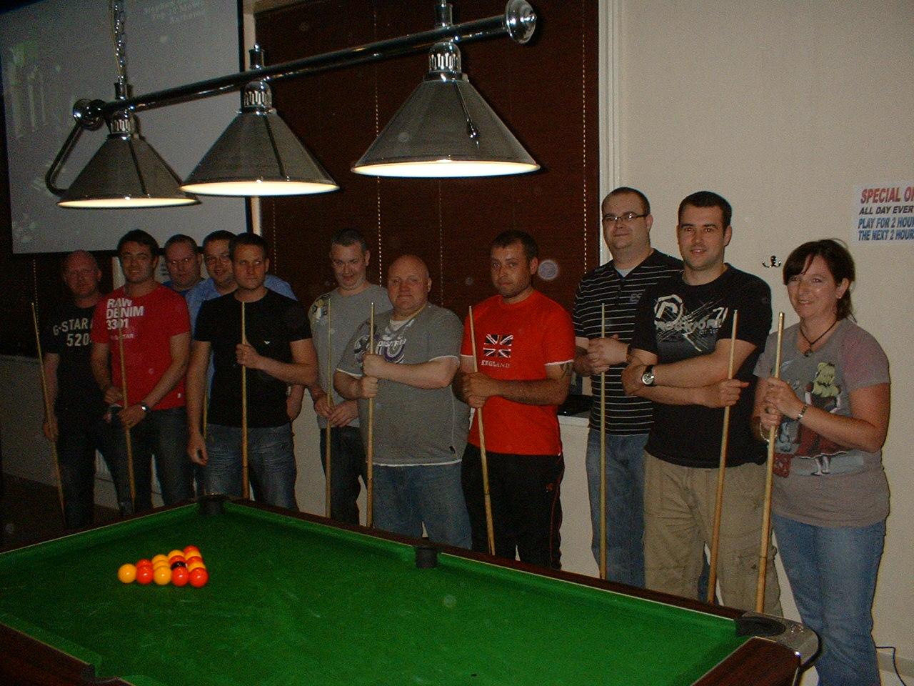 Bottom 8 Team Ko Finalists Alfie Ball Memorial Chester Le Street Pool League